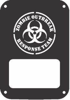 JeepTails Zombie Outbreak Response Team   Jeep JK Wrangler Tail Lamp Covers   Black   Set of 2 Automotive