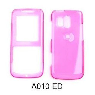 Samsung Messenger R450/R451 (Straight talk) Trans.Hot Pink Hard Case,Cover,Faceplate,Snap On,Housing,Protector Cell Phones & Accessories
