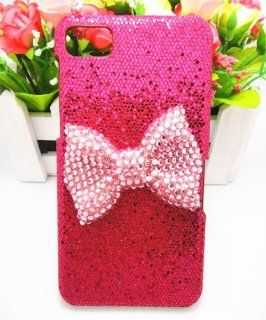 Hot Pink Special Sparkle Party Cute Bling Pink Bow Diamond Case Cover For BlackBerry Z10 Cell Phones & Accessories