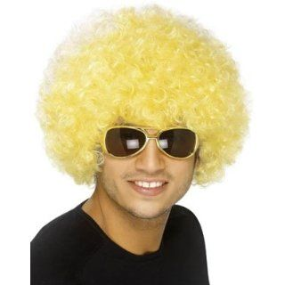 New Mens Womens Child Costume Blond Yellow Afro Wigs Clothing