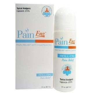 PainEnz All Natural Roll On Arthritis, Back, Neck, and Muscle Pain Reliever 3 Oz. Health & Personal Care