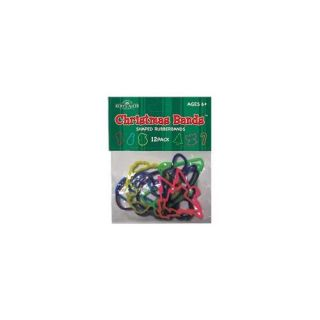 Club Pack of 576 Colorful Christmas Bands Silicone Rubber Bracelets Christmas Decor