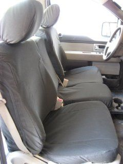 Exact Seat Covers, F461 X8, 2009 2010 Ford F150 XLT Front 40/20/40 Split Seats with Opening Center Console Custom Exact Seat Covers, Graphite Automotive Twill Automotive