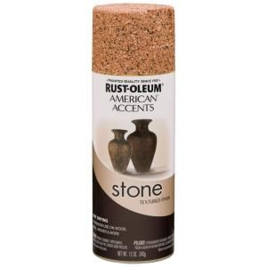 Rust Oleum American Accents 12 oz. Stone Sienna Textured Finish Spray Paint 7994830