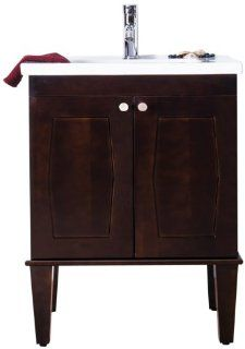 American Imaginations 479 American Birch Wood Vanity with Soft Close Doors and White Ceramic Top for Single Hole Faucet Installation, 32 Inch W x 35 Inch H   Shelving Hardware