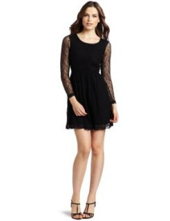 Kensie Women's Lace Dress, Black, 4