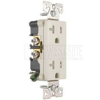 Cooper 9510TRDS Electrical Outlet, Aspire Duplex Receptacle 20A, Commercial Grade Desert Sand   Electric Plugs
