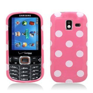 [E]for Samsung Intensity Iii Sch u485 Polka Dots Image, Light Pink+white Cell Phones & Accessories