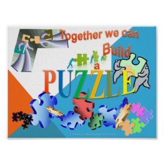 Together we can make a Puzzle Print