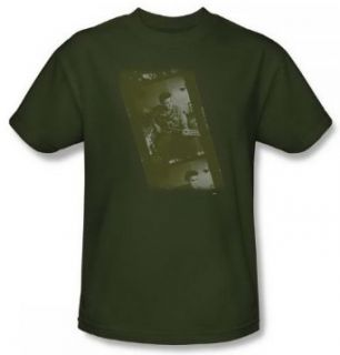 Elvis Presley Army Green Adult Shirt ELV473 AT Clothing