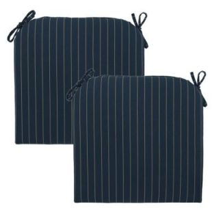 Hampton Bay Midnight Stripe Deluxe Outdoor Chair Cushion (2 Pack) 7399 02003200