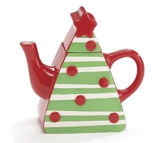 Christmas Tree Shape Teapot For Holiday Teas Kitchen & Dining