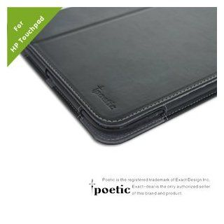 Poetic(TM) Slimbook High Quality PU Leather Case for HP TouchPad Touchscreen Tablet With 3 in 1 Built in Stand (Black) Computers & Accessories