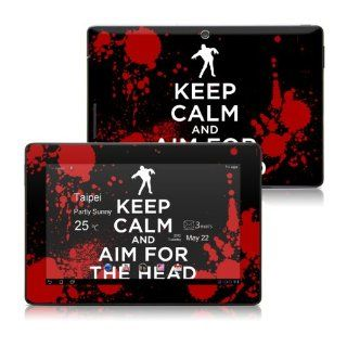 Keep Calm   Zombie Design Protective Skin Decal Sticker for ASUS Transformer TF300 Tablet Computers & Accessories