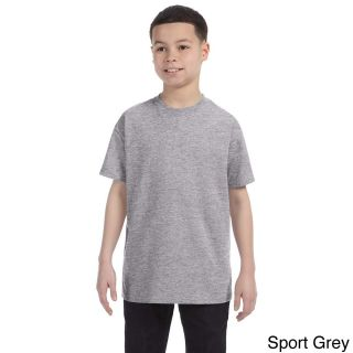 Gildan Gildan Youth Heavy Cotton T shirt Grey Size L (14 16)