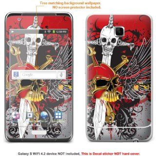 Protective Decal Skin Sticker for Samsung Galaxy Player 4.2 (NOTE view IDENTIFY image for correct model) case cover GLXYs42 476 Cell Phones & Accessories