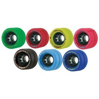 Radar Demon Indoor Quad Roller Skate Wheels by Riedell  Roller Skate Replacement Wheels  Sports & Outdoors