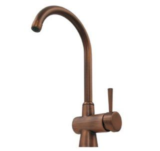 Whitehaus WH16606 PBRAS Evolution 7 1/4 Inch Arcade Single Hole/Single Lever Mixer with A Gooseneck Swivel Spout, Polished Brass   Touch On Kitchen Sink Faucets