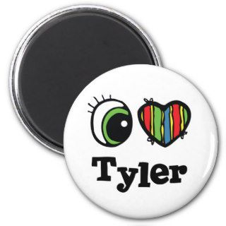 I Heart (Love) Tyler Fridge Magnet