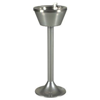 "Ex Cell Kaiser 501 CPDR FLIP Stainless Steel Pedestal Smoking Urn with Removable Flip Top, 10"" Diameter x 22"" Height, Chrome Smoking Receptacles"