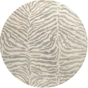 BASHIAN Greenwich Collection Safari Light Blue 6 ft. Round Area Rug R129 LBL 6 RND HG241