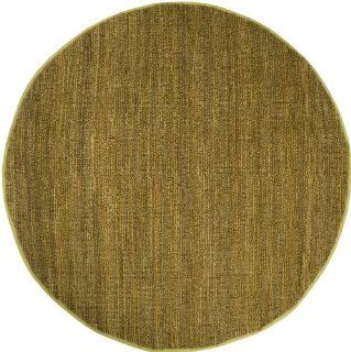 8' Round Mossy Gold Oscar Isberian Rugs Natural Fibers Area Rug   Handmade Rugs
