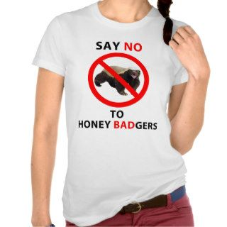 Say NO to Honey Badger, Funny Badass Trendy Tees