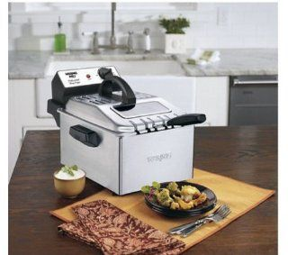 Waring Pro WPF503BJ 1800 Watt Deep Fryer, Brushed Stainless Steel with 30 Minute Digital Timer Kitchen & Dining