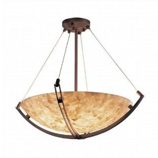 Alabaster Rocks Crossbar 21 inch Bronze & Mosaic 3 Light Round Bowl Pendant   Ceiling Pendant Fixtures