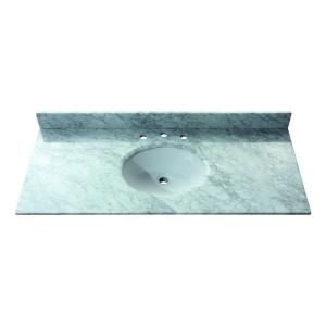 Avanity 49 in. Marble Stone Vanity Top in Carrera White with no Basin Included SUT49CW