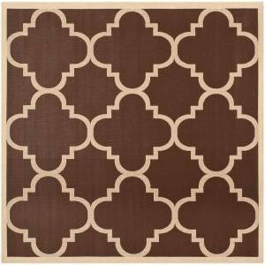 Safavieh Courtyard Dark Brown 7.8 ft. x 7.8 ft. Square Area Rug CY6243 204 8SQ