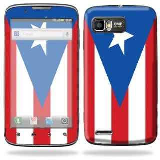 Protective Skin Decal Cover for Motorola Atrix 2 II (version 2) Cell Phone Sticker PuertoRican Flag Cell Phones & Accessories