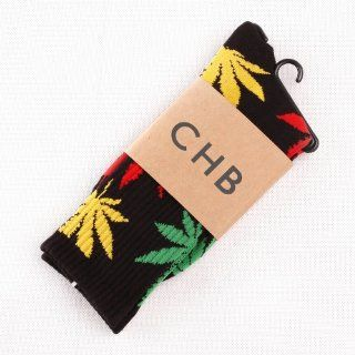 1Pair Marijuana Weed Leaf Cotton High Thick Socks Colorful for Men/women Clothing