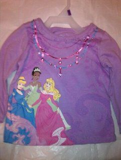 Disney Princess Cinderella Tiana Sleeping Beauty Infant Long Sleeve Shirt (12 Months, Purple)  Infant And Toddler T Shirts  Baby