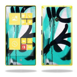 Protective Vinyl Skin Decal Cover for Nokia Lumia 520 Cell Phone T Mobile Sticker Skins Graffiti Tagz Cell Phones & Accessories