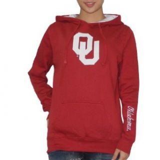 NCAA Oklahoma Sooners Womens Pullover Hoodie with Embroidered Logo Large Red  Athletic Hoodies  Clothing