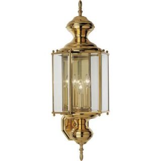 Progress Lighting BrassGUARD Collection Polished Brass 3 light Wall Lantern P5730 10