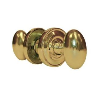 Global Door Controls Sapphire Residential Handley Style Polished Brass Privacy Knob KH 1440 1 PVD