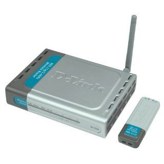 D Link DWL 922 Wireless USB Network Router/Adapter Kit, 802.11g, 54Mbps, Includes DI 524 & DWL G122 Electronics