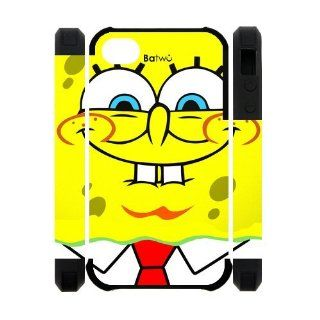 Funny SpongeBob Squarepants Smile Printed iPhone 4 4s Case Cover Cell Phones & Accessories