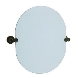 Design House Allante 19 4/6 in. L x 19 1/2 in. W Oval Pivot Wall Mirror in Oil Rubbed Bronze 560995