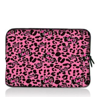 "Pink Leopard bow 13"" 13.3"" inch Notebook Laptop Case Sleeve Carrying bag for Apple Macbook pro 13 Air 13/ Samsung 900X3 530 535U3/Dell XPS 13 Vostro 3360 inspiron 13/ ASUS UX32 UX31 U36 X35 /SONY SD4 13/ ACER 13/ThinkPad X1 L330 E330 Computers &"