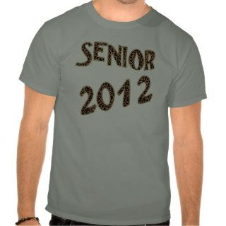 Senior 2012 Leopard and Zebra Print Shirts
