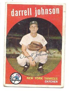 DARRELL JOHNSON 1959 Topps #533 Card New York Yankees Baseball Sports Collectibles