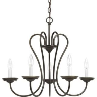 Progress Lighting Heart Collection 5 Light Antique Bronze Chandelier P4667 20