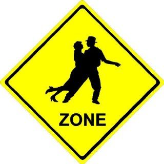 "8""x8"" aluminum metal Couple Dance ZONE. Crossing zone novelty sign  Yard Signs  Patio, Lawn & Garden"