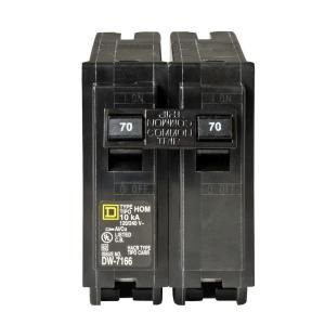 Square D by Schneider Electric Homeline 70 Amp Two Pole Circuit Breaker HOM270CP
