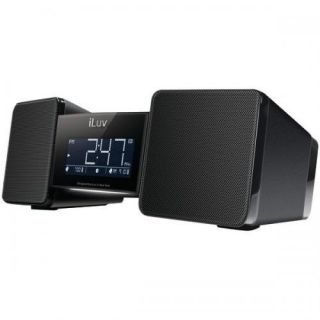 ILUV IMM157BLK Vibro Bluetooth Wireless Speaker and Alarm Clock with Shaker Audio