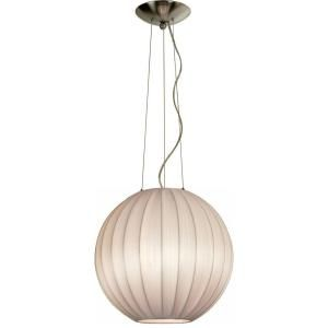 Filament Design Astoria 1 Light 13 in. Ivory Kinwashi and Brushed Nickel Pendant with 3 Tier Shades TP7902 W