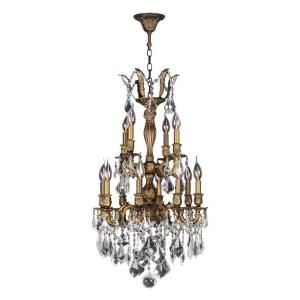 Worldwide Lighting Versailles Collection 12 Light Crystal and Antique Bronze Chandelier W83343B19